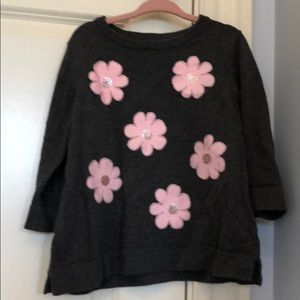 Kate Spade sweater with flower appliqué